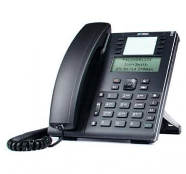 """Mitel 6865 SIP phone with large 3.4"""" 128x48 pixel LCD display"""