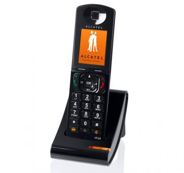 Alcatel IP20 black handset with charger