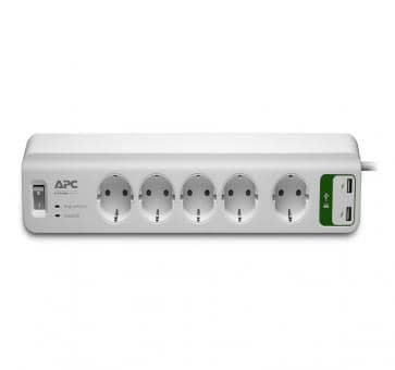APC PM5U-GR Essential SurgeArrest 5 outlet strip USB chargin