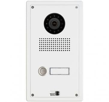 Telecom Behnke series 5 white 1 button IP doorstation Aluminium 5-0000-IP flush mount