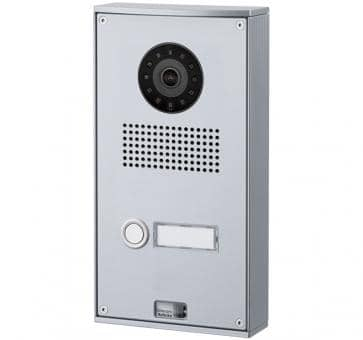 Telecom Behnke series 5 silver 1 button IP doorstation Aluminium 5-0025-IP wall mount