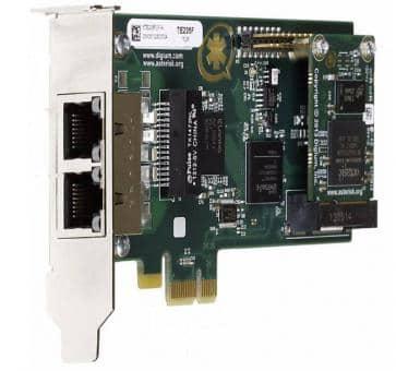 Digium TE235B dual Span T1/E1/J1 2xPRI card PCIe + HW EC
