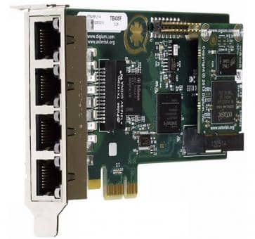 Digium TE435F quad Span T1/E1/J1 4xPRI card PCIe