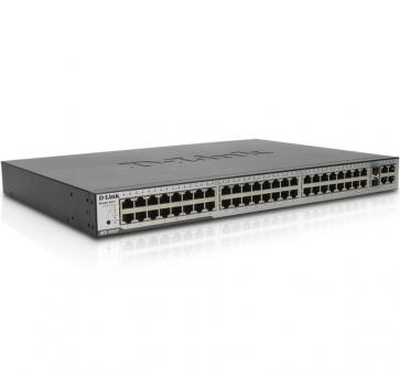 D-Link DES-3052 48x 10/100Mbit PoE 2x 10/100/100Mbit 2x Combo 10/100/1000Mbit Port and Mini GBIC (SFP) Slot