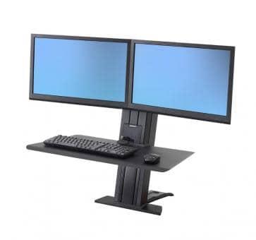 Ergotron Workfit Sr Dual Monitor Black Short Surface Sit