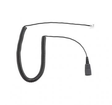 freeVoice FC cord with QD and RJ9 curled 8800-01-01-FRV