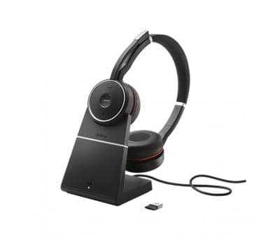 JABRA Evolve 75 Bluetooth Headset Duo MS NC inkl. Charging Stand 7599-832-199