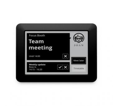 JOAN Visual Communication Executive 6 inch E-Link Room Manager incl. use of space analysis WiFi WPA2-PSK black