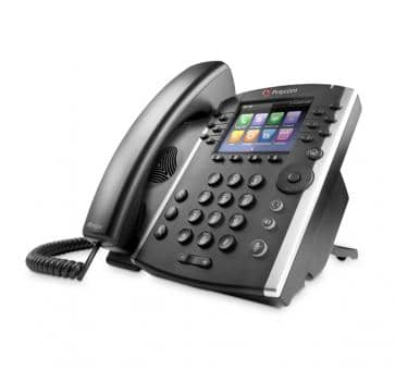 Polycom VVX410 IP phone PoE Skype For Business (no PSU) 2200-46162-019