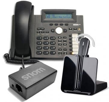 SNOM 320 + Plantronics CS540 + SNOM Wireless Headset Adapter Advanced