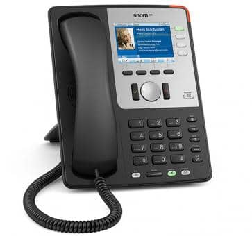 SNOM 821 black IP phone with TFT color display