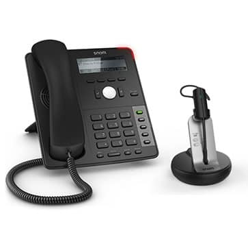 SNOM D712 IP phone (without PSU) + SNOM A170 DECT Headset