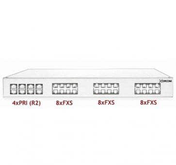 Xorcom Astribank - 4 PRI + 24 FXS - XR0062