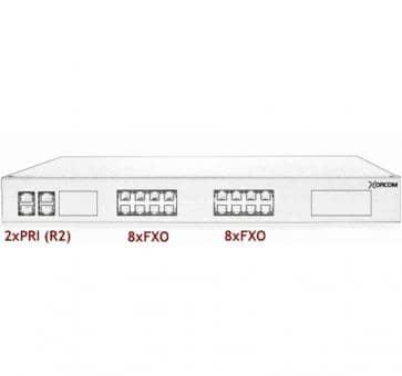 Xorcom Astribank - 2 PRI + 16 FXO - XR0076