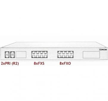 Xorcom Astribank - 2 PRI + 8 FXS + 8 FXO - XR0078