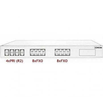 Xorcom Astribank - 4 PRI + 16 FXO - XR0082