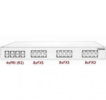 Xorcom Astribank - 4 PRI + 16 FXS + 8 FXO - XR0086