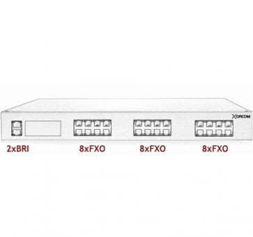 Xorcom Astribank - 2 BRI + 24 FXO - XR0089