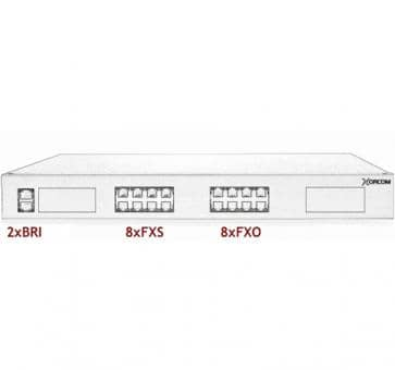 Xorcom Astribank - 2 BRI + 8 FXS + 8 FXO - XR0090