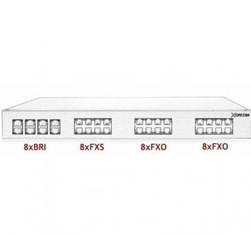 Xorcom Astribank - 8 BRI + 8 FXS + 16 FXO - XR0103