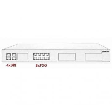 Xorcom IP PBX - 4 BRI + 8 FXO - XR1-93