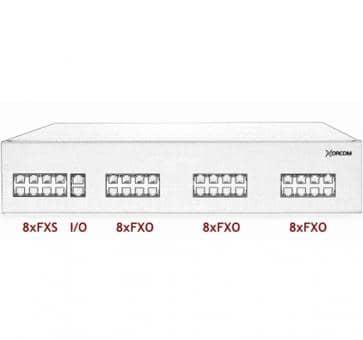 Xorcom IP PBX - 8 FXS + 24 FXO - XR2011