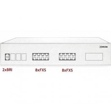 Xorcom IP PBX - 2 BRI + 16 FXS - XR2065