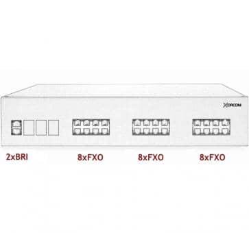Xorcom IP PBX - 2 BRI + 24 FXO - XR2089