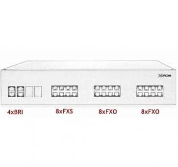 Xorcom IP PBX - 4 BRI + 8 FXS + 16 FXO - XR2097