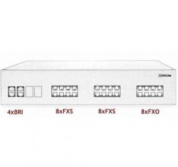 Xorcom IP PBX - 4 BRI + 16 FXS + 8 FXO - XR2098
