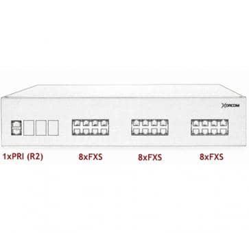 Xorcom IP PBX - 1 PRI + 24 FXS - XR3050