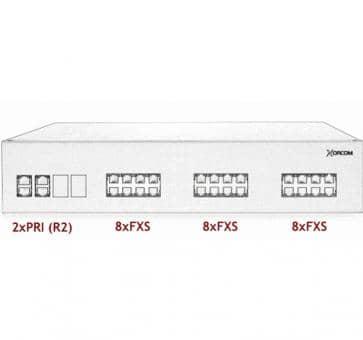 Xorcom IP PBX - 2 PRI + 24 FXS - XR3059