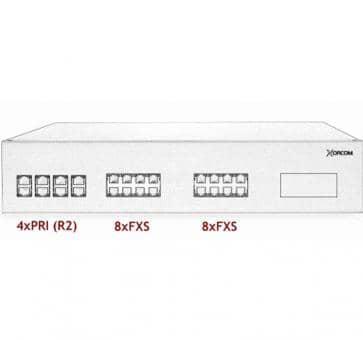 Xorcom IP PBX - 4 PRI + 16 FXS - XR3061